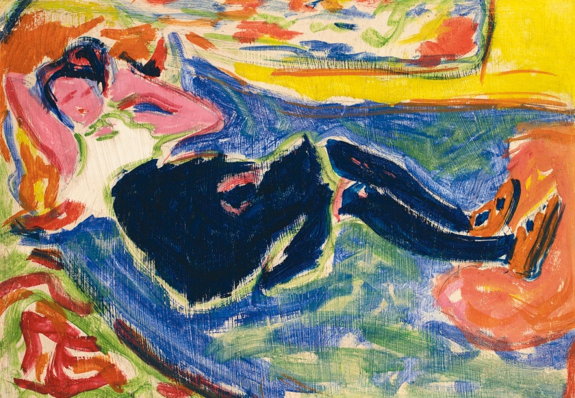 """Woman in black stockings"", 1909"